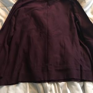 Burgundy bell sleeve lane Bryant top